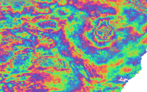 Mt Etna IW Interferogram with Topo Phase Remvoed Zoomed In -