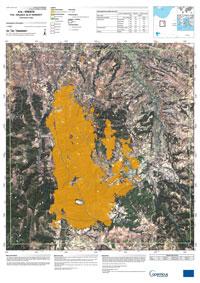 Delineation map of Greece forest fire