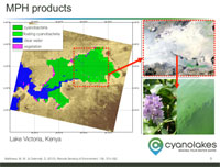 Products from Sentinel-3 and MERIS