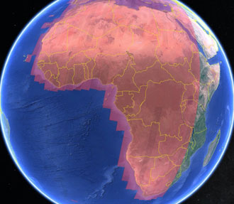 Sentinel-2 coverage of Africa