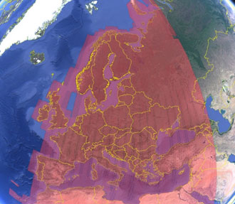 Sentinel-2 coverage of Europe